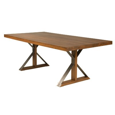 "Beldale Maple Dining Table Size: 29"" H x 80"" W x 42"" D, Color: Shadow"