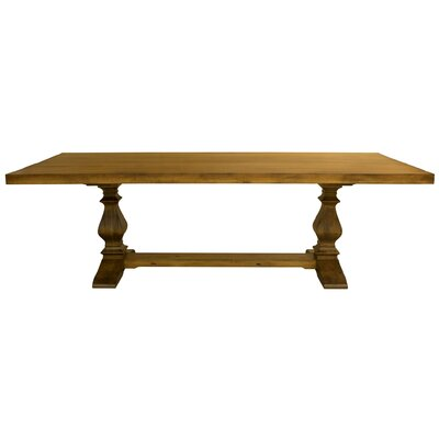 "Ashford Maple Extendable Dining Table Size: 29.75"" H x 86"" W x 42"" D, Color: Distressed Walnut"