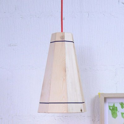 Factory Twenty One 18cm Wooden Empire Pendant Shade