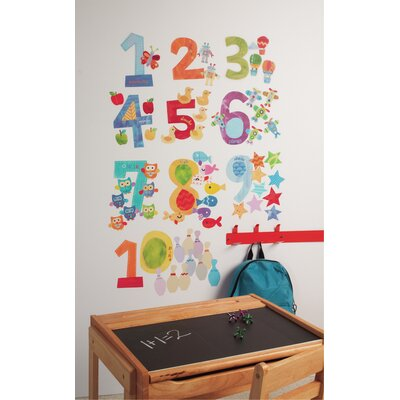 Wallies Murals & Cutouts 2 Piece Counting Numbers Wall Sticker Set