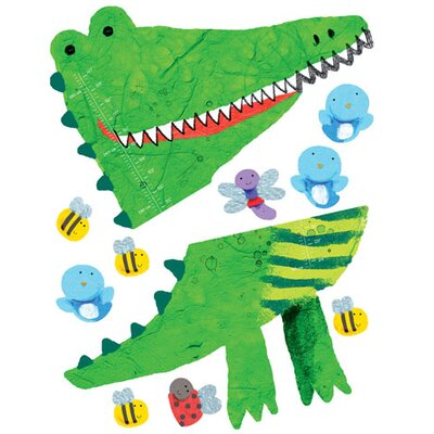 Wallies Murals & Cutouts 2 Piece Crocodile Growth Chart Wall Sticker Set