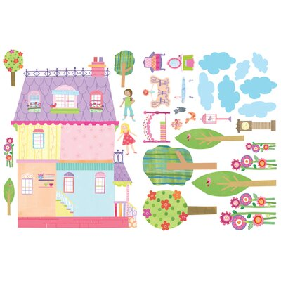 Wallies Murals & Cutouts 2 Piece Play House Wall Sticker Set
