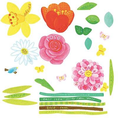 Wallies Murals & Cutouts 2 Piece Flower Garden Wall Sticker Set