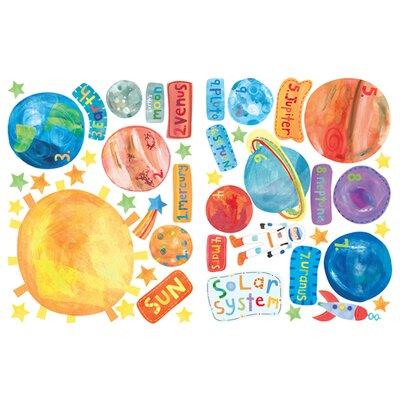 Wallies Murals & Cutouts 2 Piece Solar System Wall Sticker Set