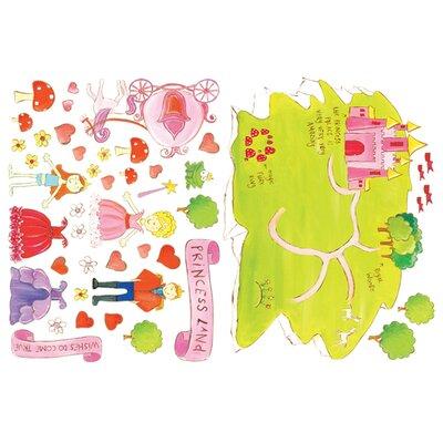 Wallies Murals & Cutouts 2 Piece Princess Land Wall Sticker Set