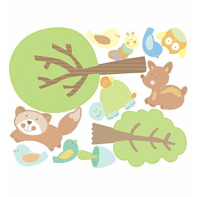 Wallies Murals & Cutouts 2 Piece Baby Animal Tales Wall Sticker Set