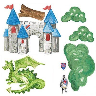 Wallies Murals & Cutouts 2 Piece Medieval Times Wall Sticker Set