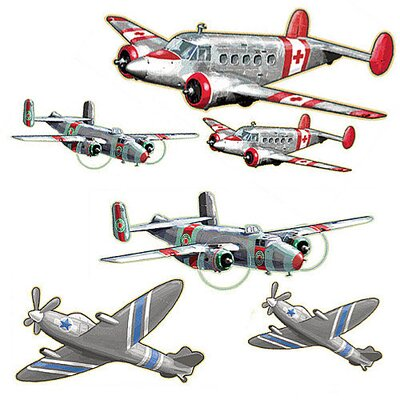 Wallies Murals & Cutouts 2 Piece Airplanes Wall Sticker Set