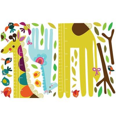 Wallies Murals & Cutouts Giraffe Growth Chart Wall Sticker Set