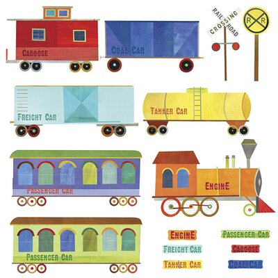 Wallies Murals & Cutouts 2 Piece Ride Wall Sticker Set