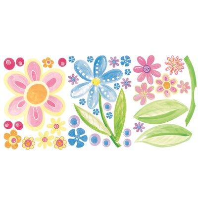 Wallies Murals & Cutouts 3 Piece Big Flowers Wall Sticker Set