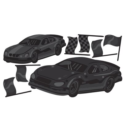 Wallies Murals & Cutouts Fast Cars Chalkboard Wall Stickers
