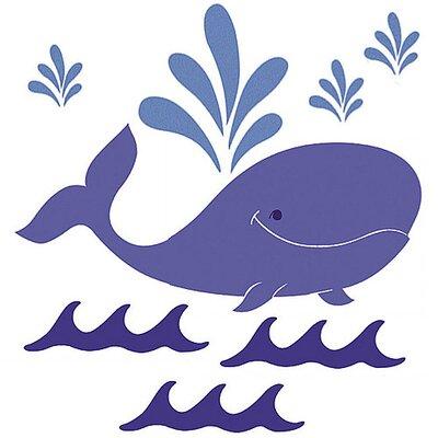 Wallies Murals & Cutouts 3 Piece Whimsical Whale Wall Sticker Set