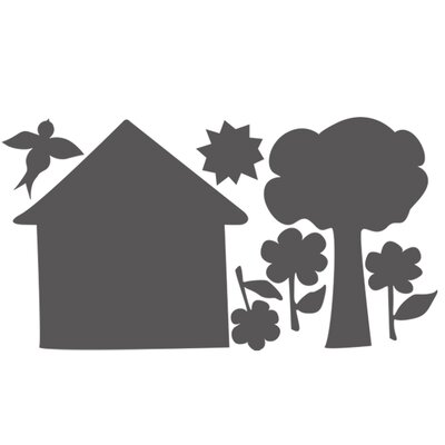 Wallies Murals & Cutouts House and Trees Chalkboard Wall Sticker
