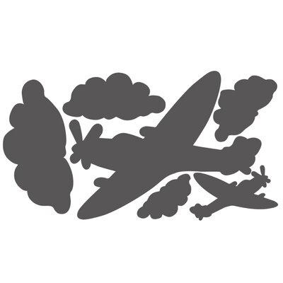 Wallies Murals & Cutouts Planes and Clouds Chalkboard Wall Stickers