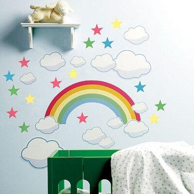 Wallies Murals & Cutouts 2 Piece Baby Rainbow Room Wall Sticker Set