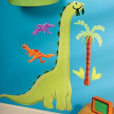 Wallies Murals & Cutouts Dinosaur Growth Chart Wall Sticker Set