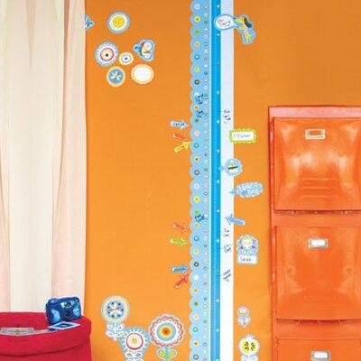 Wallies Murals & Cutouts 2 Piece Dry Erase Growth Chart Whiteboard Wall Sticker Set