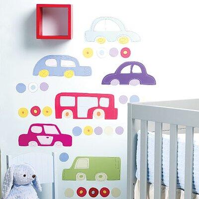 Wallies Murals & Cutouts 2 Piece Baby Riding Around Wall Sticker Set