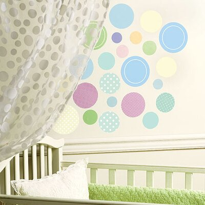 Wallies Murals & Cutouts Baby Dots Wall Sticker