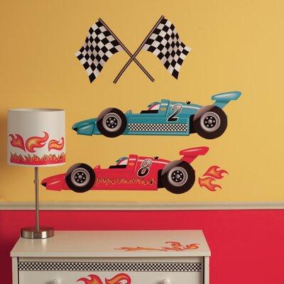 Wallies Murals & Cutouts 2 Piece Grand Prix Racing Wall Sticker Set