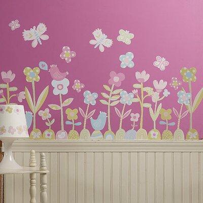 Wallies Murals & Cutouts 2 Piece Baby Daisy Wall Sticker Set