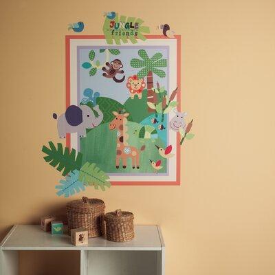 Wallies Murals & Cutouts 2 Piece Jungle Friends Wall Sticker Set