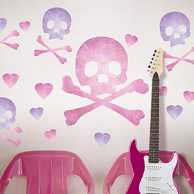 Wallies Murals & Cutouts Skulls Wall Stickers