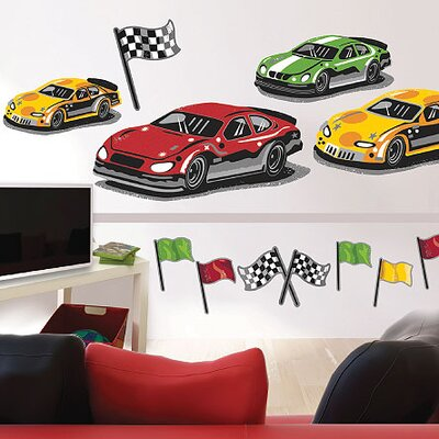 Wallies Murals & Cutouts At The Track Wall Stickers