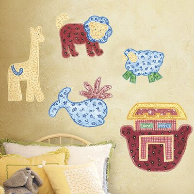 Wallies Murals & Cutouts Patchwork Animals Wall Stickers