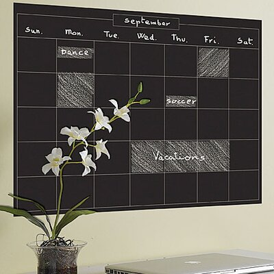 Wallies Murals & Cutouts Monthly Calendar Chalkboard Wall Sticker