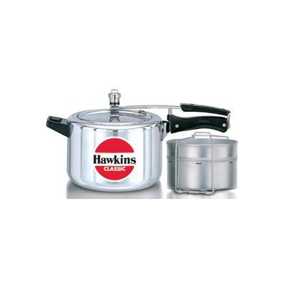 Classic New Improved Aluminum Pressure Cooker Size: 5 L