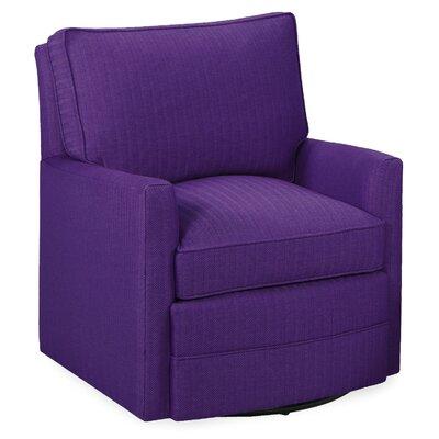 Sawyer Swivel Armchair Upholstery: Eggplant