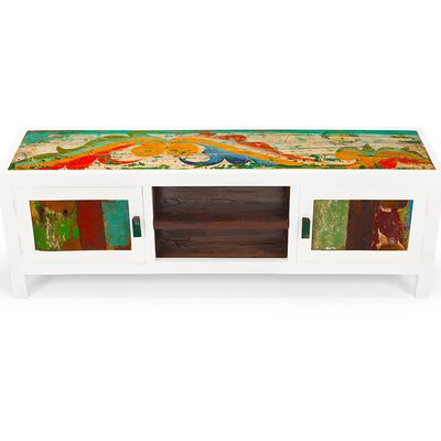 """Channel Surf Reclaimed Wood 59"""" TV Stand"""