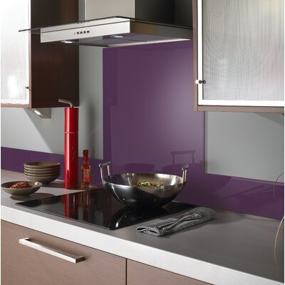 British Ceramic Tile Impact Aubergine 75cm x 60cm Glass Tile in Aubergine