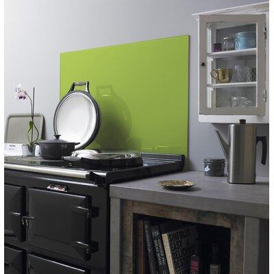 British Ceramic Tile Impact Lime 75cm x 90cm Glass Tile in Lime