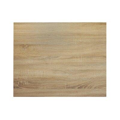 "Midtown Table Top Size: 30"" W x 24"" D, Color: Sawmill Oak"