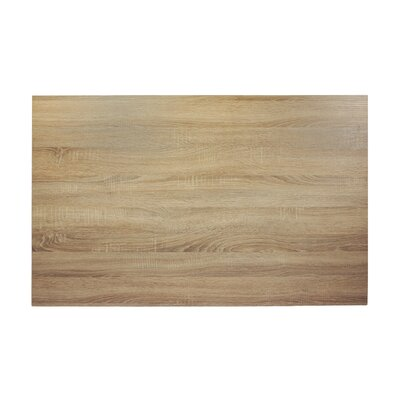 "Midtown Table Top Color: Sawmill Oak, Size: 48"" W x 30"" D"