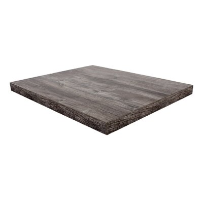 """Midtown Table Top Size: 24"""" W x 24"""" D, Color: Driftwood"""