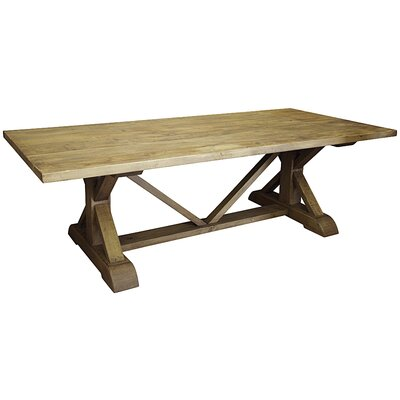 """X Dining Table Size: 30"""" H x 108"""" L x 44"""" W"""