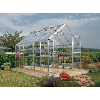 Snap & Grow 8 Ft. W x 12 Ft. D Greenhouse Finish: Silver