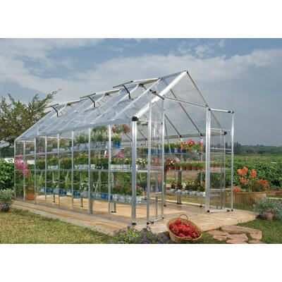 Snap & Grow 8 Ft. W x 16 Ft. D Greenhouse Finish: Silver