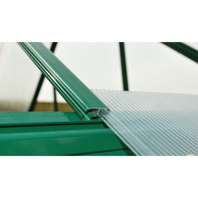 "Mythos 6 ft. W x 6 ft. D Greenhouse Frame Finish: Green, Size: 7' 1"" H x 6.0' W x 6.0' D"