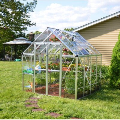 Snap & Grow 8 Ft. W x 8 Ft. D Greenhouse Finish: Silver