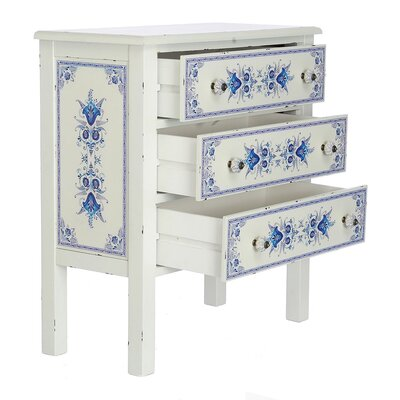 Dionte French Countryside 3-Drawer Accent Chest