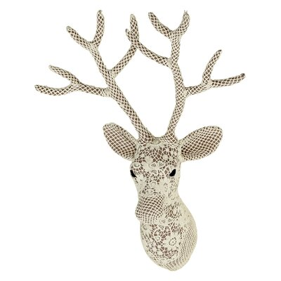Arthouse Lochs and Lagoons Lace Deer Bust Wall Décor