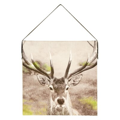 Arthouse Lochs and Lagoons Stag Graphic Art on Canvas