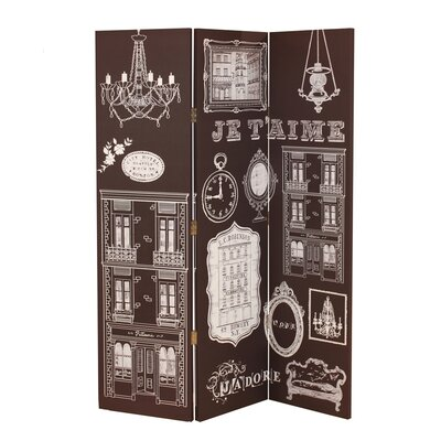Arthouse 150cm x 120cm Bourgeoise 3 Panel Room Divider