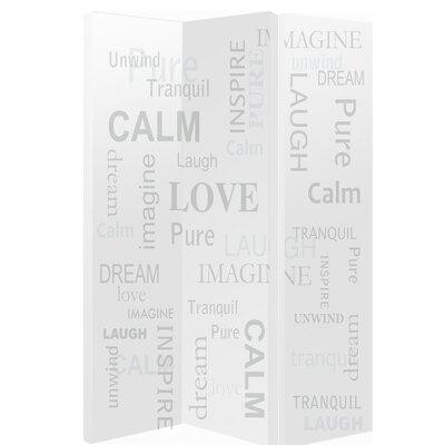 Arthouse 150cm x 120cm Words 3 Panel Room Divider