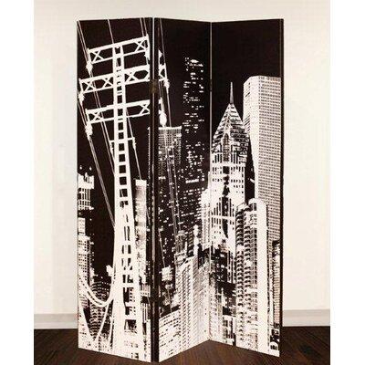 Arthouse 150cm x 120cm City Pylon 3 Panel Room Divider